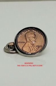 1943 Lincoln Cent (Copper),Tie Clip, Lapel Pin or Hat Pin Penny Cent Collection