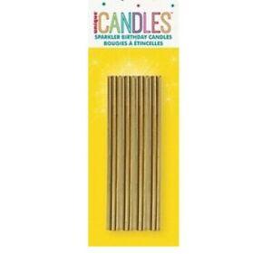 Gold Sparkler Candles pack of 18