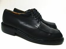 GORDON RUSH Mens Black Leather Oxfords Size 45/11 US Made in Italy