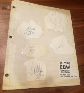 Sabu Mikey Whipreck 911 Johnny Grunge Autographs ECW Wrestling Rare Philly 90's