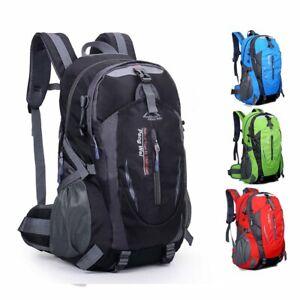 40L Mens Backpack Hiking Bag Camping Travel Waterproof Pack Sport Rucksack Women