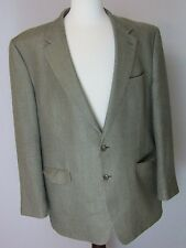 Chaps 46L Brown 100% Silk Men's Blazer Jacket Sport Coat