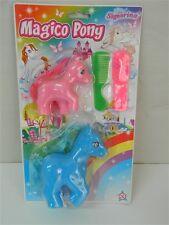 2 MAGICO PONY + pettine spazzola per criniera colorati TEOREMA 3+ T175