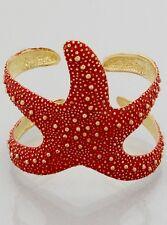 Starfish Cuff Bracelet Textured Metal Sea Life Beach Jewelry Coral