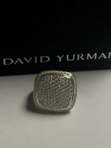 David Yurman Classic Ring Albion 17mm Pave Diamond SiZe 7.5