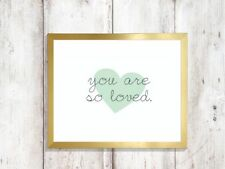 you are so loved heart  quote a4 glossy Print poster gift wall UNFRAMED nursery