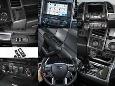 15-19 Ford F150 9 Piece Molded Carbon Fiber Interior Dash Trim Bezel Kit