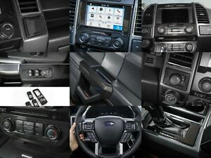 15-20 Ford F150 9 Piece Molded Carbon Fiber Interior Dash Trim Bezel Kit