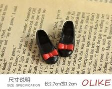 New Black shoes with red bow-knot for BLYTHE AZONE LICCA DOLL-010