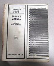 1980 Datsun Nissan 280Z Service Repair Manual Model S30 Series