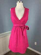 New MAX AND CLEO BCBG Pink embroidred dress S 4 Career Cocktail sleeveless B25