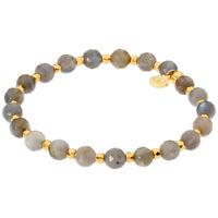Gorjana Power Gemstone Two Tone One Size Elastic Bracelet 19420929G