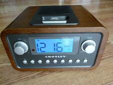 CROSLEY CR02-002A DOCK CLOCK RADIO WITH POWER SUPPLEY ADAPTER NICE PIECE