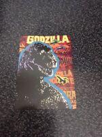 1996 EMPTY CHROMIUM GODZILLA BOX WITH ONE RANDOM CHROMIUM STICKER /& BASE CARD!!