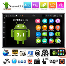 "Quad Core Android 7.1 3G WIFI de 7 ""Doble 2DIN Car Radio estéreo MP5 GPS Player"