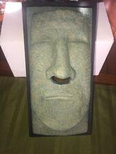 Tiki Head Facial Tissue Box Holder Cover Dispenser Face Easter Island Retro New