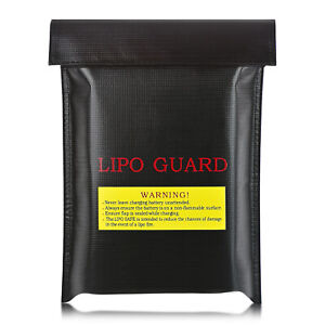 Waterproof Fireproof Bag RC Lipo Battery Safety Guard Charge Bag-Black