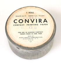 AGFA CONVIRA CONTACT PRINTING PAPER TIN (TIN ONLY) VINTAGE