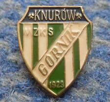 GORNIK KNUROW POLAND FOOTBALL FUSSBALL SOCCER 1980's HIGHER GOLD PIN BADGE