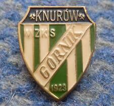 GORNIK KNUROW POLAND FOOTBALL FUSSBALL SOCCER 1980's HIGHER GOLD PIN BADGE