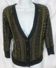 EUC Womens Rachel By Rachel Roy Sz M Open Knit Cardigan Sweater Wool Blend