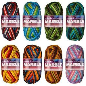 50g Myboshi Marble (100g/5,50€) bunte Wolle multicolor  Mützen Häkeln Stricken