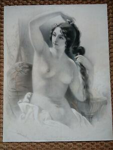 Louis émile Lassalle (1811-1871) Grande lithographie signée