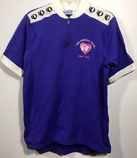 Mens Pearlizumi Cycling Bike White Blue Quarter Size XL Sport Shirt-D114