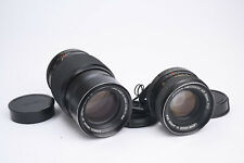 Lot of 2 Vintage Konica Lenses - 52mm F1.8 Hexanon and 135mm Hexar - CLEAN