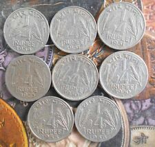 8 pcs MINT SET - 1950 1951 1954 1955 1956 - Nickel 1/4 Rupee - india