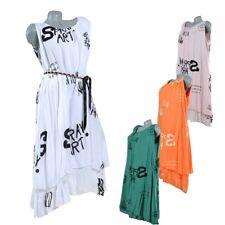 Viscosa Strand Lange Maxi Sommer Tunika Kleid 2-lagig  40 42 44 46 48 50 L XL