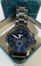 Fossil Nate Chronograph Blue Stainless Steel Watch JR1478 with Box