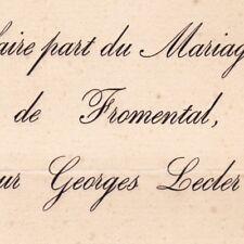 Marie Morel De Fromental 1880 Georges Lecler Duclos