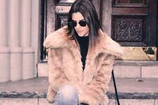 Banana Republic Faux Fur Cropped Coat, Golden Beige Size XS