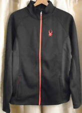 NWT Spyder Mens Large Foremost Core Full Zip Black Sweater Jacket Retail $129