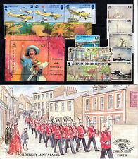 Alderney Briefmarken year Sets 1983 2000 UN/postfrisch Sets
