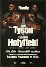 Original Vintage Iron Mike Tyson vs. Evander Holyfield 1996 Boxing Fight Poster