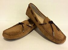 UGG TIE BOW SLIPPERS MOCCASINS CHESTNUT SUEDE WOMEN'S US 12 /EUR 43 /UK 10.5