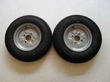 2 OFF 145 R10 4 PLY  4 STUD 100 PCD TRAILER WHEELS & TYRES  NEW ITEMS
