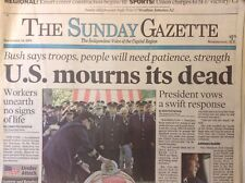 The Sunday Gazette Magazine George W. Bush September 16, 2001 102317nonrh3