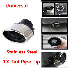 High Quality Stainless Steel 63MM Car Exhaust Muffler Tip 1.0 Tail Pipe End Trim