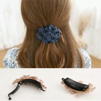Fashion Women's Crystal Flower Rhinestone Hair Pins Hairpin Clip Barrette Hot
