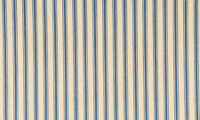 "James Thompson 32"" Wide Blue Striped Ticking By The Yard"