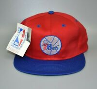 Philadelphia 76ers Competitor NBA Vintage 90s YOUTH Snapback Cap Hat - NWT