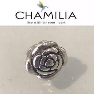 CHAMILIA ROSE CHARM BEAD STERLING SILVER 925 CHAM GA-70