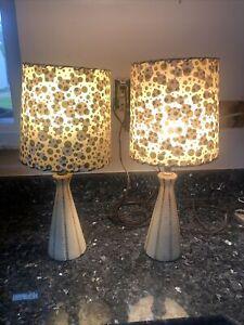MID CENTURY Retro Atomic Modern 1950s Table Lamp Light Original Kitschy 50s UFO Lamp Mad Men Kitsch 1960s 60s Black Gold Vintage Ceramic