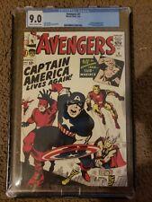 Avengers #4 Custom Made GRADED CASE 9.0 REPRINT 1st Captain America Silver