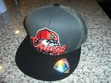 ADULT GRAY/BLACK/RED TOP OF THE WORLD GEORGIA BULLDOGS SNAP BACK HAT - NWT