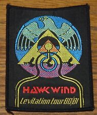HAWKWIND LEVITATION TOUR 1980 1981 EMBROIDERED WOVEN CLOTH SEWING SEW ON PATCH