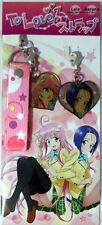 To Love Ru Lala and Haruna Metal Phone Strap Anime Manga Licensed NEW